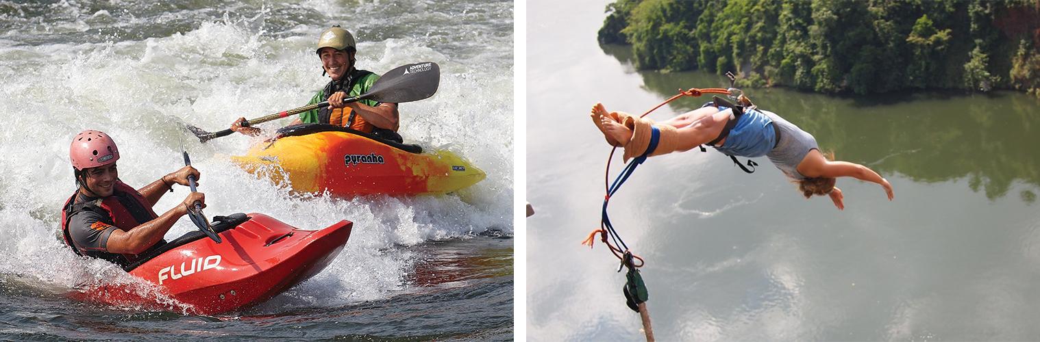 White Water Kayaking and Bungee